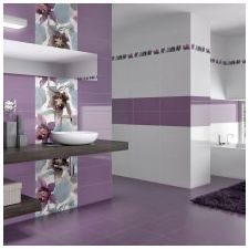 Design lilac bathrooms: features photo-9