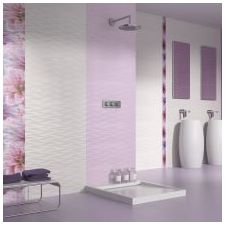 Design lilac bathrooms: features photo-18