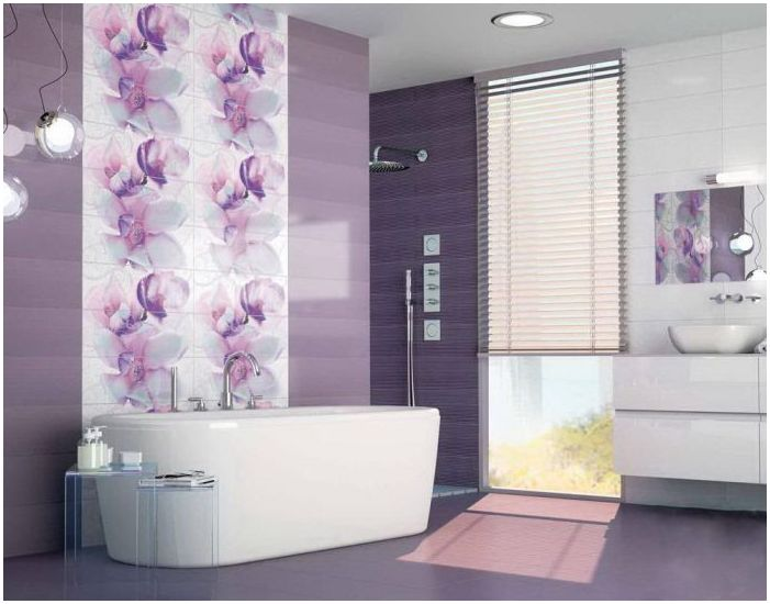 bathroom in mauve colors