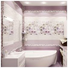Design lilac bathrooms: features, photo 1