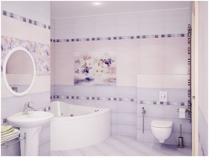 Bathroom in lilac shades