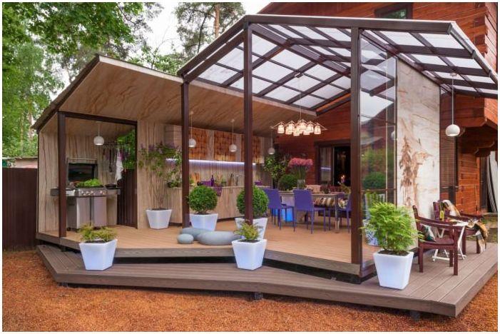 Дизайн тераси в частна къща