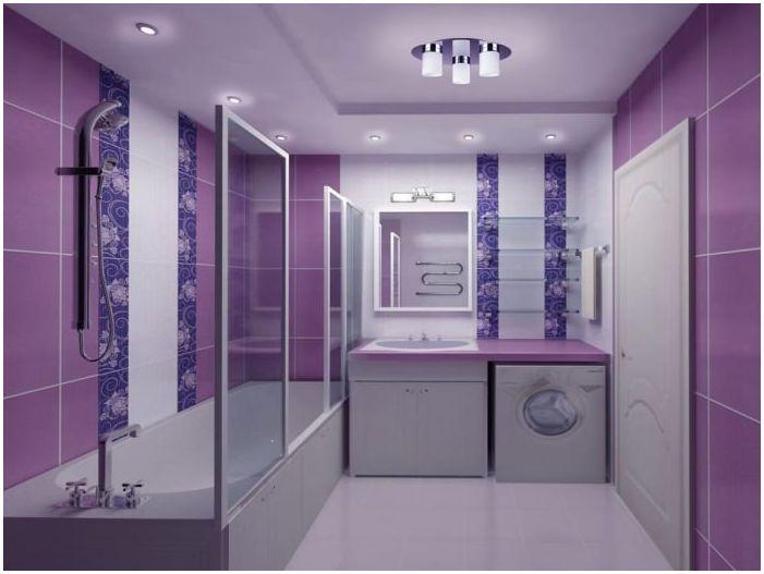 Дизайн баня лилаво стая: функции, снимки