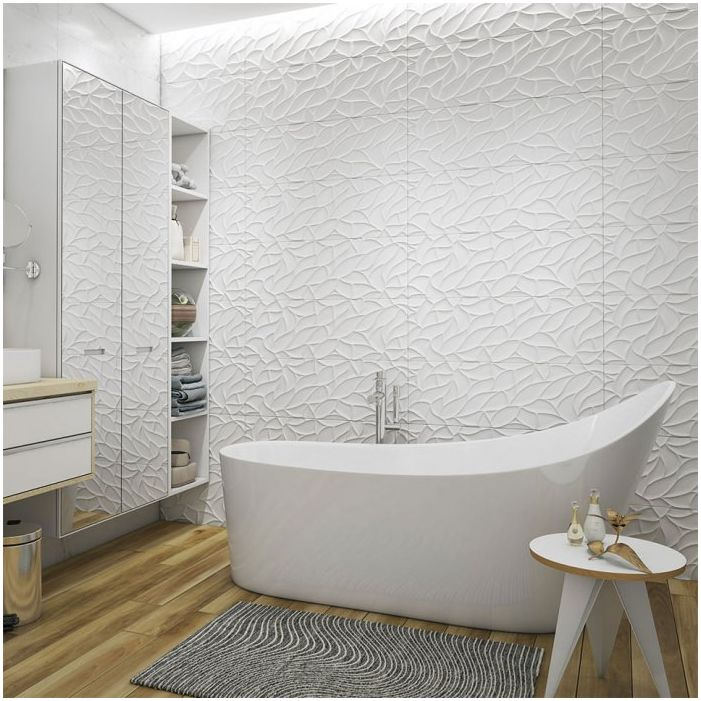 Bathroom in white color 10 square meters. m.