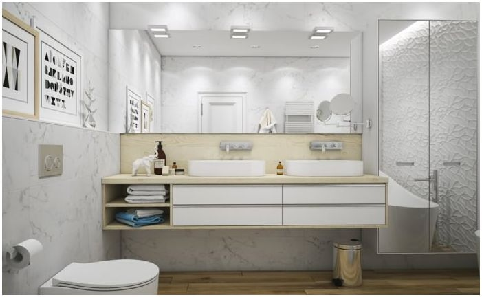 Bathroom Design 10 sq. m. in white