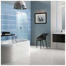 Bathroom design in blue tones-1