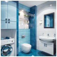 Bathroom design in blue tones-2