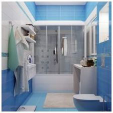 Bathroom design in blue tones-3