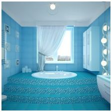 Bathroom design in blue tones-5
