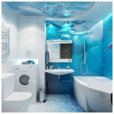 Bathroom design in blue tones-8