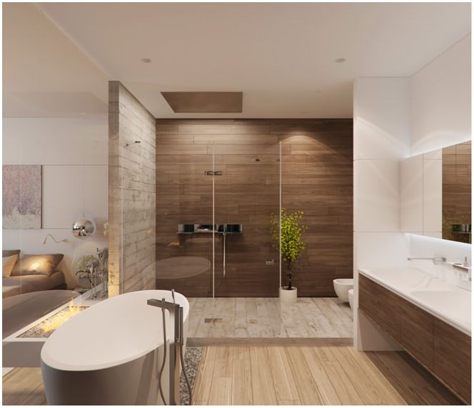 Design badezimmer in beige t nen for Bad in design