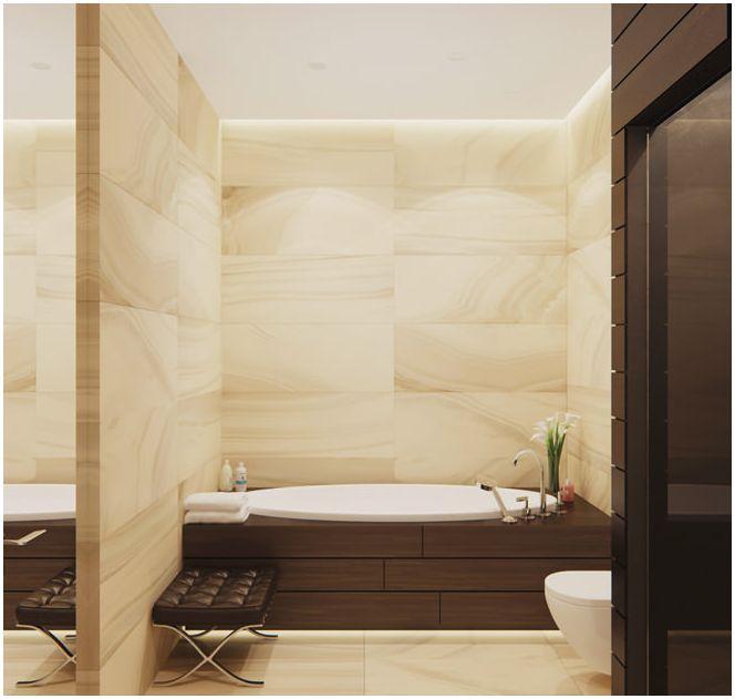 design badezimmer in beige t nen. Black Bedroom Furniture Sets. Home Design Ideas