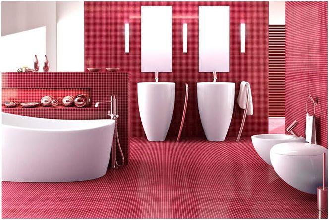 Дизайн бани в розови цветове