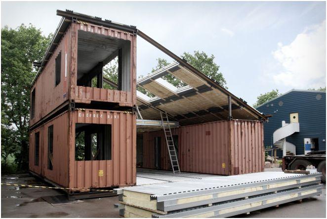 Къща направен от корабни контейнери