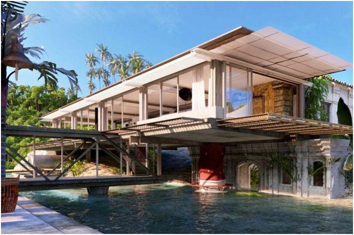 Къща на брега на морето: удобен дом, ремонтирана от промишлена площадка