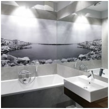 Mural in a modern interior: types, application technology, photo-3
