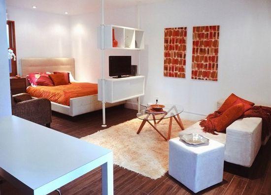 Как да се съчетаят успешно спалня с хол в апартамент (снимка интериор)
