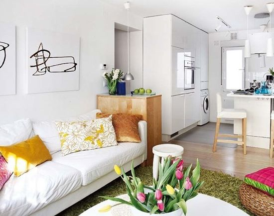 5 advantages of a small apartment, photos of beautiful interiors of small apartments