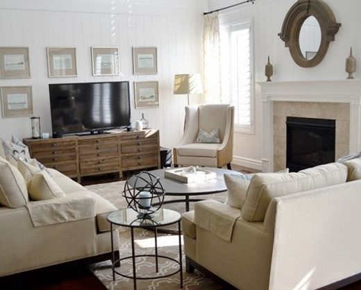 TV in the interior of a small living room, how to fit a television in the interior (interior photos)