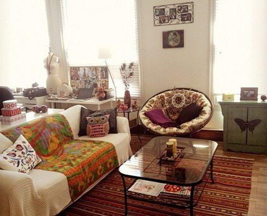 Бюджет опция бохемски интериор малък апартамент. Boho шик стил в малък апартамент (снимка)