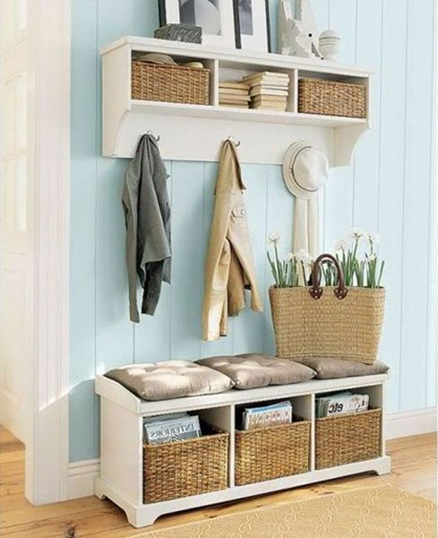 Ideas for a small hallway, five ideas of the organization of storage in hallway