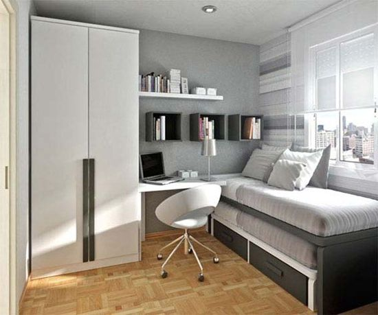 Ergonomic ideas: Learning to save space. Ergonomic furniture in the interior of the house