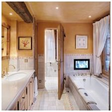 Interior bathroom in the style of Provence: features, photo 2