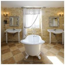 Interior bathroom in the style of Provence: features photo-5