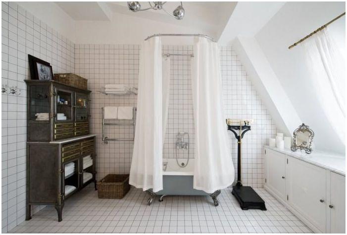 Интериор на ретро баня