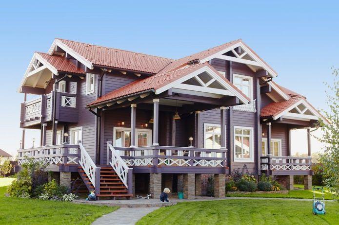 적층 한척 목재 270 평방 인테리어 컨트리 하우스. m.  dizainall.com