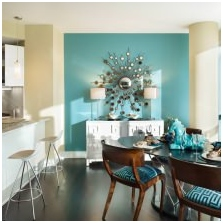 Interiors with turquoise: features, photo 2