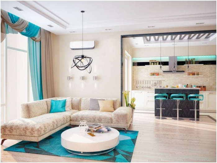 bright turquoise decorative elements