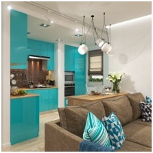 Interiors with turquoise: features, photo 1