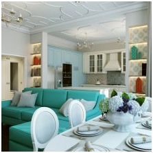 Interiors with turquoise: features photo-3