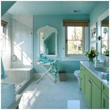 Interiors with turquoise: features photo-16