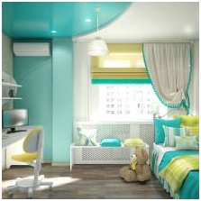 Interiors with turquoise: features photo-14