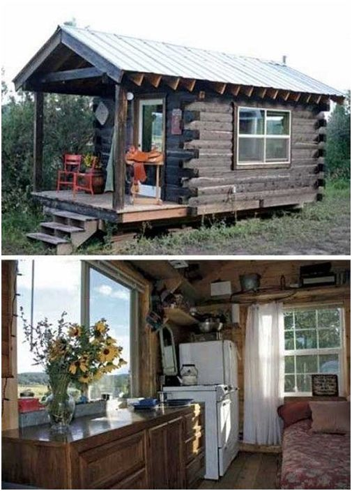 Зрелищни колиби на залесената площ, която може само да мечтаят