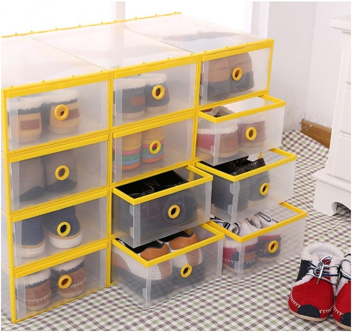 containers for storage of shoes