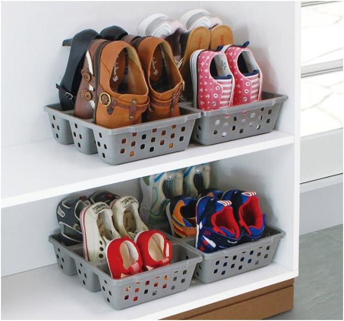 baskets for storage of shoes