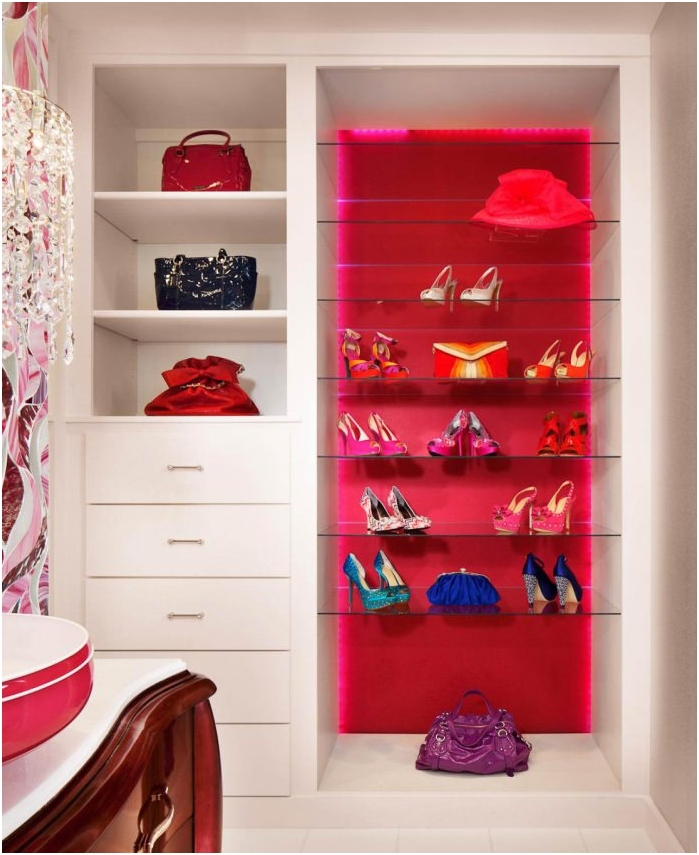 shoes as interior decoration