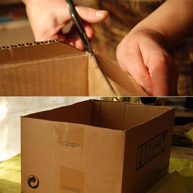 Коробка для вещей из картона