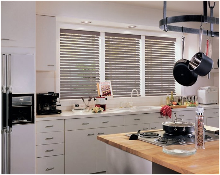 types of blinds according to the method of fastening: on each casement