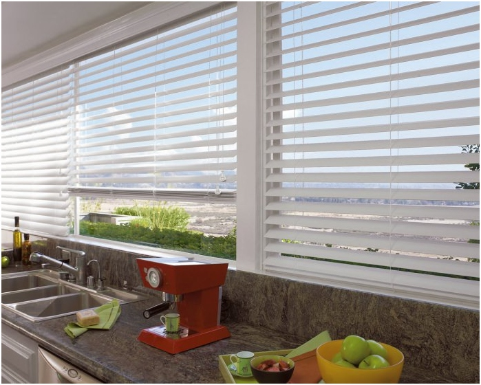 types of blinds on the material: plastic