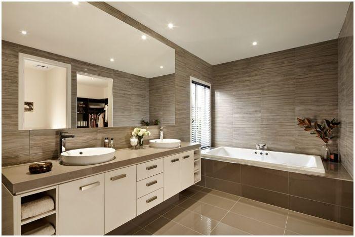 brown in bagno | dizainall.com - Bagni Moderni Beige E Marrone