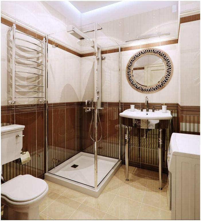 Браун в банята