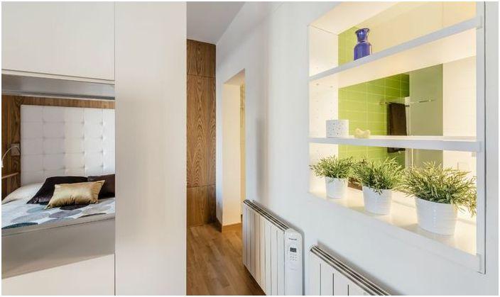 Апартамент с функционални решения, които ще бъдат от полза за собствениците malogabaritok