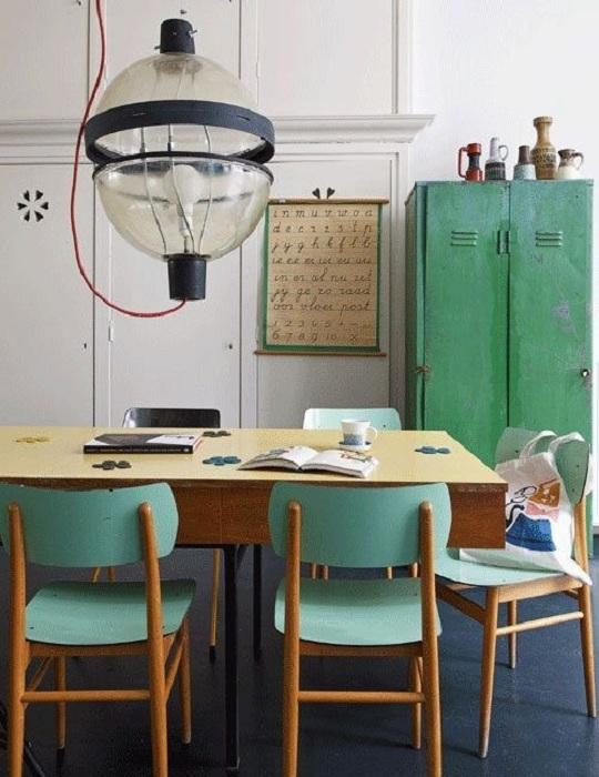 цвят мента в интериора: 33 Примери за стаите