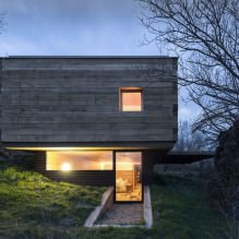 A small modern house with a flat roof on ch + qs arquitectos-8