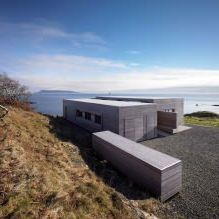 Storey country house with a flat roof in Scotland 1