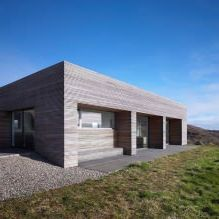 Storey country house with a flat roof in Scotland-6